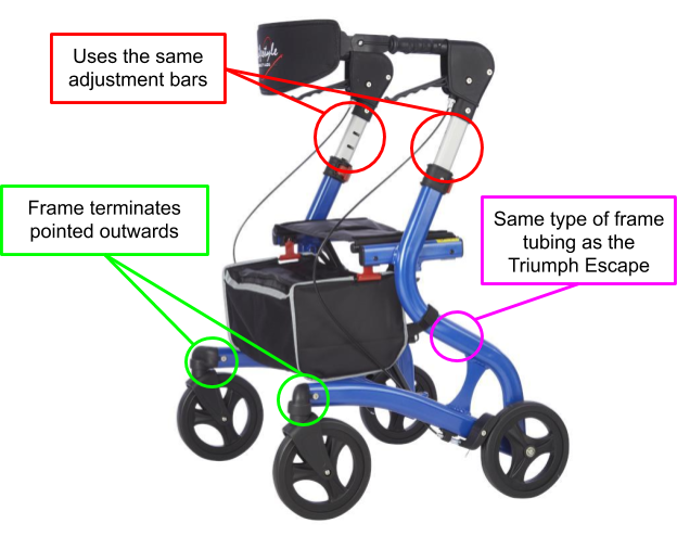 Figure 1. The Lifestyle 950 Commando, a suitable replacement as a base of modifications for the J-Walk.