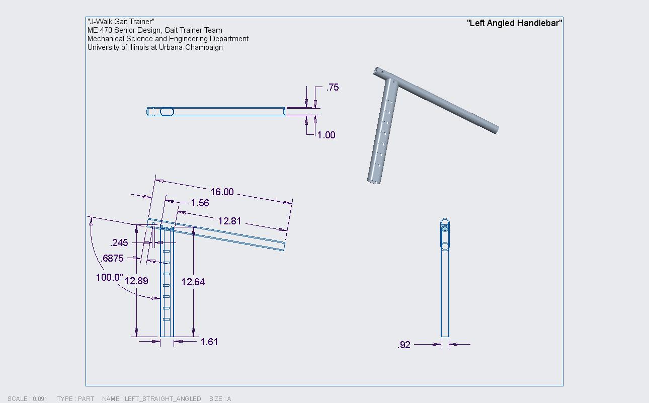 A.2.3 Left Angled Handlebar