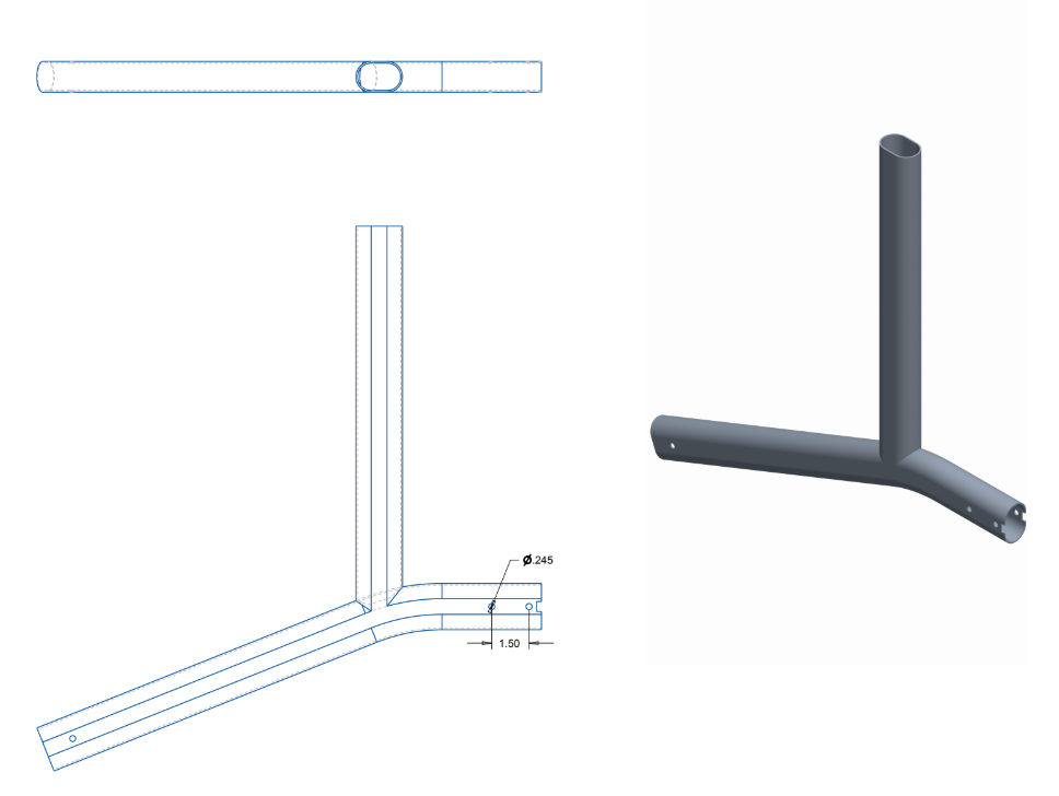 Figure 31. Existing body frame engineering drawing.