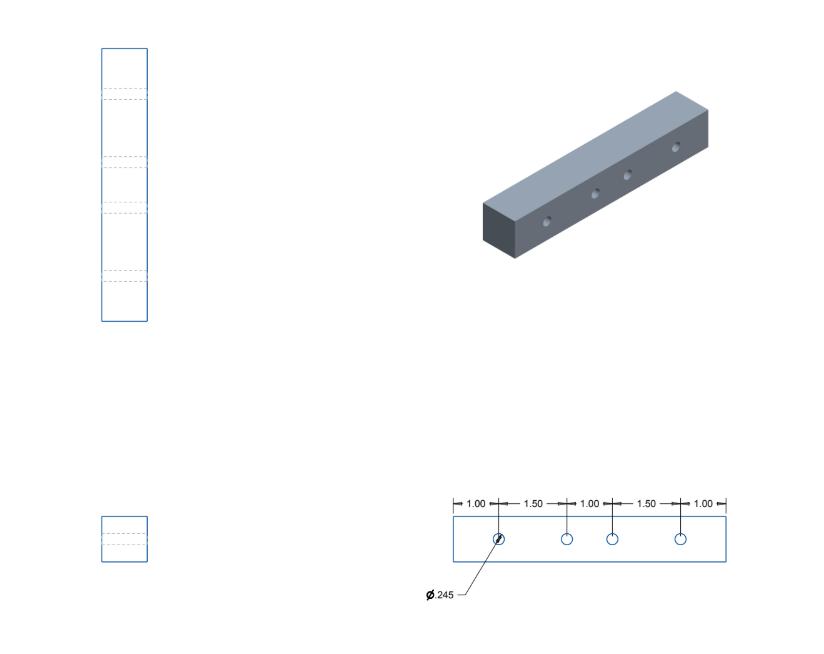 Figure 32. Square aluminum block engineering drawing.